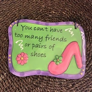 FRIENDS AND SHOES Ceramic SIGN